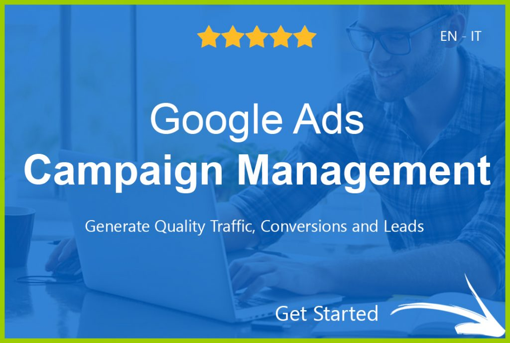 Google ads management banner.
