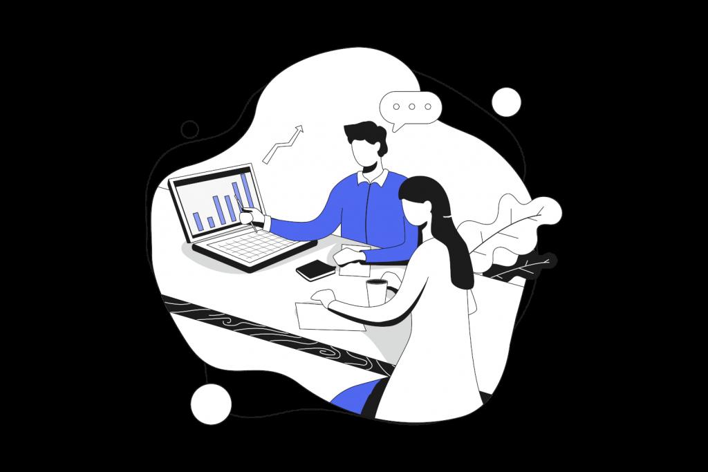 Marketing illustration.