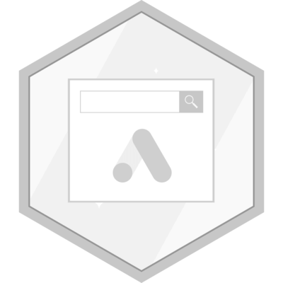 Search master certification badge.