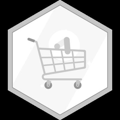 Shopping master certification badge.